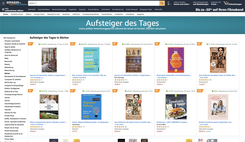 Movers-und-Shakers Bestsellerliste