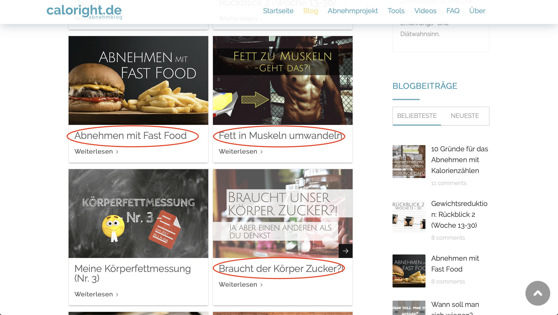 Nischen finden auf Blogs