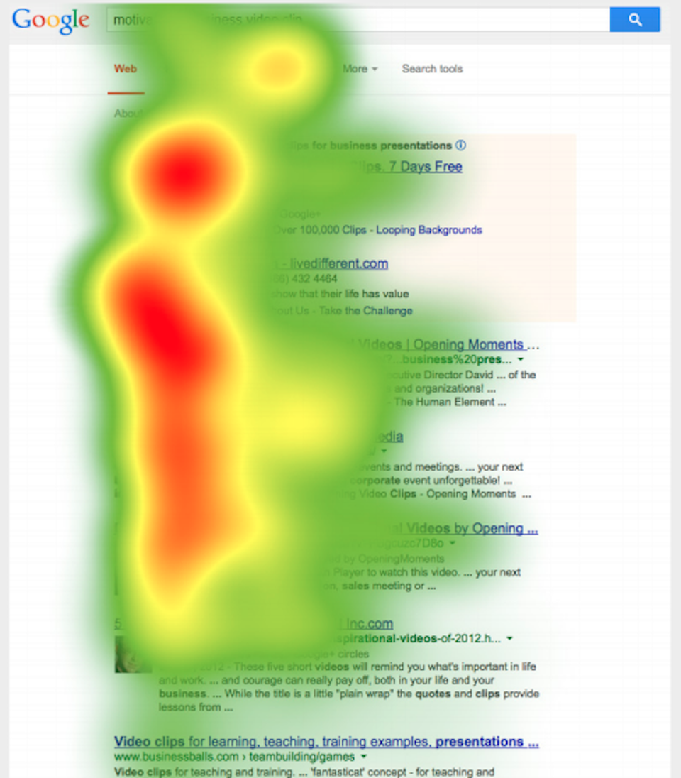 eBook vermarkten durch SEO. Google SERP Heatmap