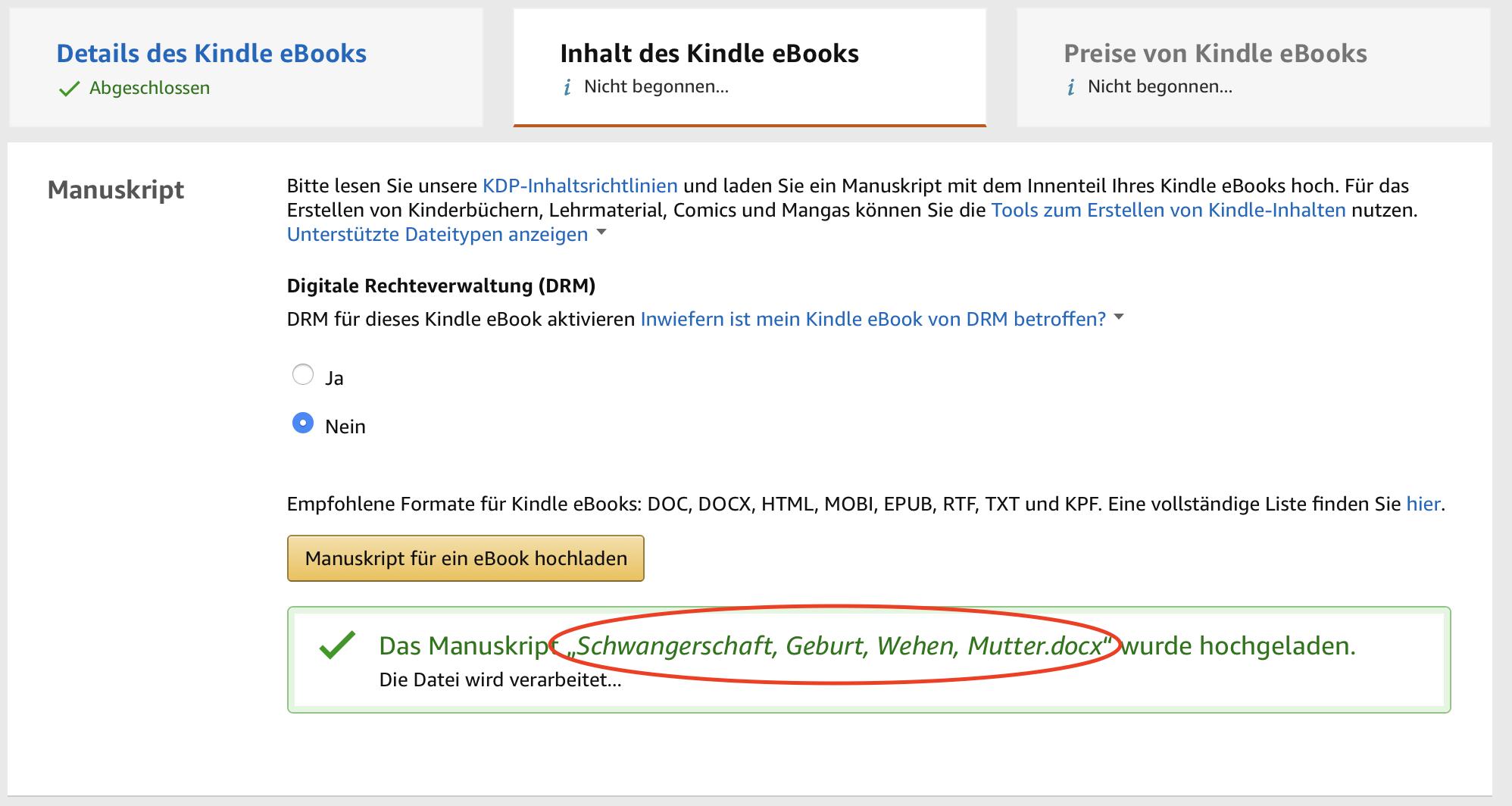 Keywordstuffing im Amazon eBook Business