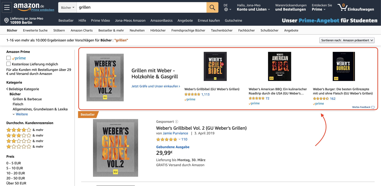 Amazon PPC mit Sponsored Brand Ads