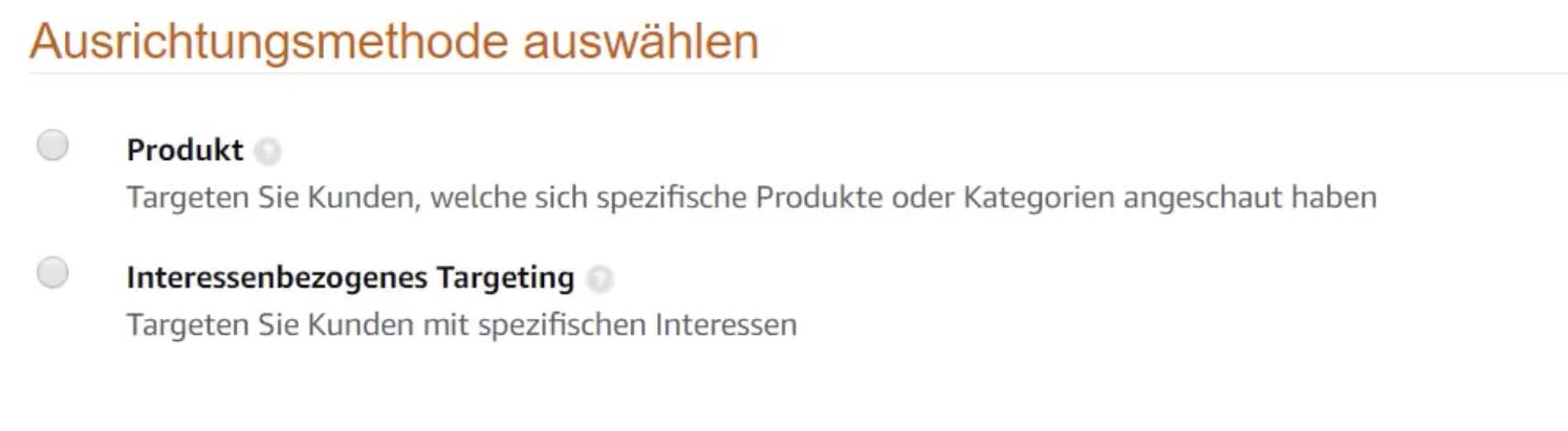 Targetierung der Product Display Ads