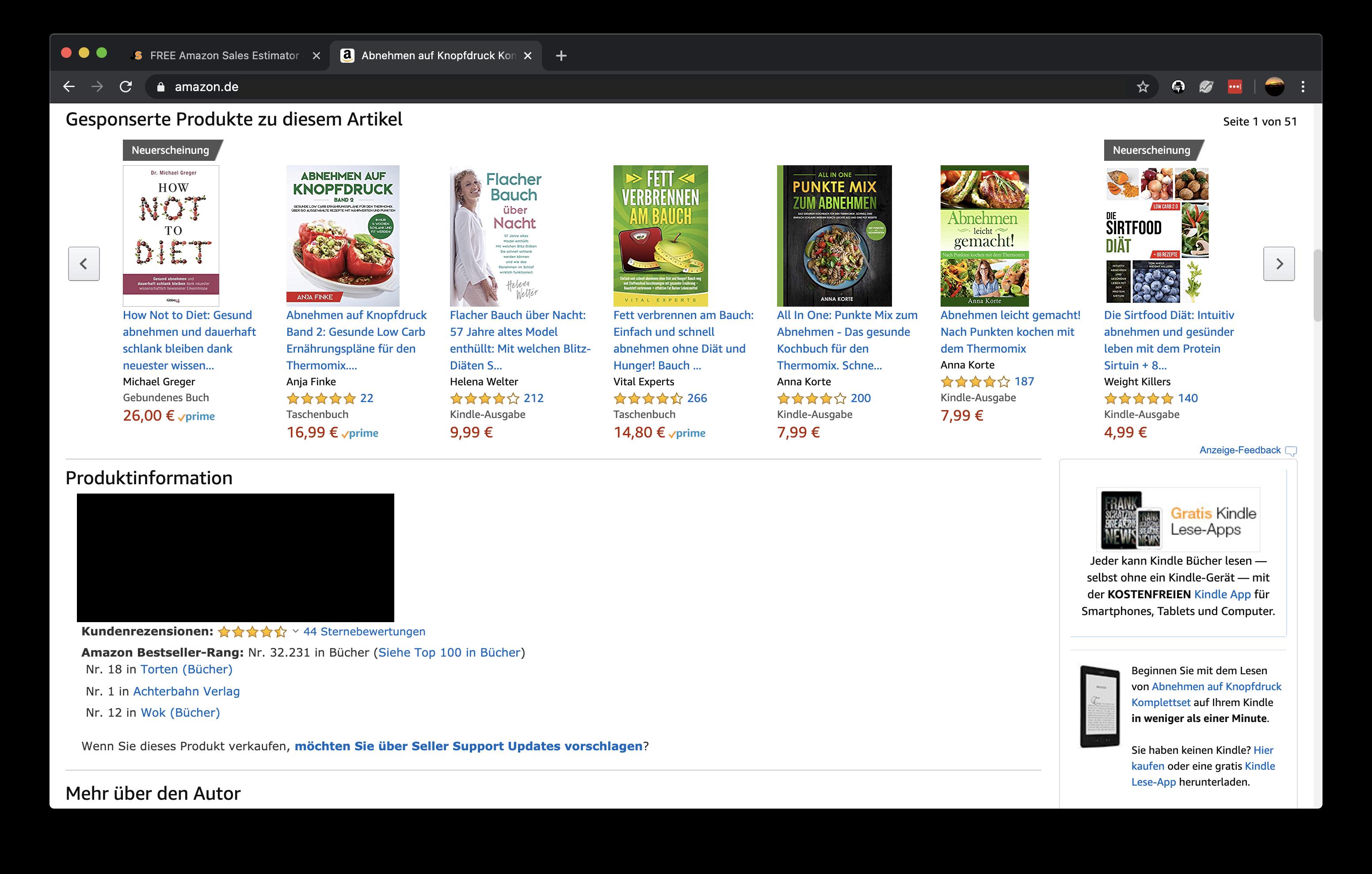 Amazon Nische finden - der BSR